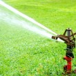 Watering in golf courseWatering turf — Stock Photo #48734513