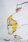 Multicolored painted Old concrete wall — Stock fotografie
