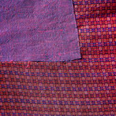 Colorful thai peruvian style rug surface close up. More of this motif & more textiles in my port tatter Old rag — Stock Photo