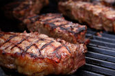 Barbecued Steaks — Stock Photo