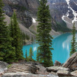 Scenic Moraine Lake — Stock Photo