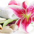 Spa Scene with Lilies — Stock Photo
