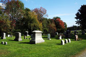 Graveyard in Autumn — Stock Photo