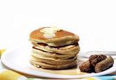 Pancakes And Sausage — Stock Photo