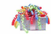 Gift With Ribbons — Stock Photo