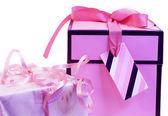 Rosa geschenke — Stockfoto