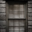 Stock Photo: Grungy Window with Blinds