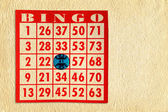 Bingo Card on Parchment — Stock Photo