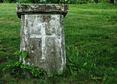 Old Grave with Cross — Stock Photo