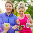 Friendship and fitness in the parc — Stock Photo #38936021
