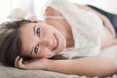 Natural light portrait of an attractive woman — Stock Photo