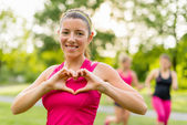 Heathy heart through regular workouts — Stock Photo