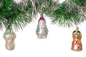 Adornos de árbol de Navidad viejo — Foto de Stock