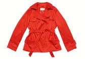 Red raincoat — Stock Photo