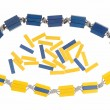 Stock Photo: Yellow and blue beads.