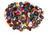 Un mucchio di pulsanti variegati — Foto Stock