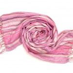 Lilac stripy scarf — Stock Photo #34578219
