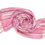 Lilac stripy scarf — Stock Photo