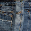 It is a close up of pile of jeans. — Stock Photo