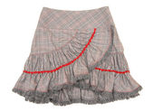 Checkered skirt with flounce — Stock Photo