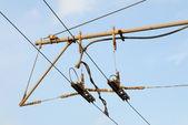 Cables del trolebús — Foto de Stock