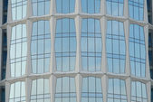 Glass fasade of office building in Moscow — Stock Photo