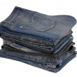 Heap of blue jeans — Stock Photo #37197111