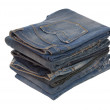 Heap of blue jeans — Stock Photo #37197323