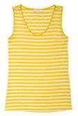 Stripy  blouse is on white backround. — Stock Photo