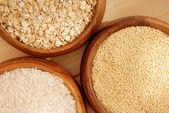 Aveia, milho, arroz — Fotografia Stock