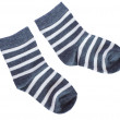 Child's blue striped socks  — Stock Photo