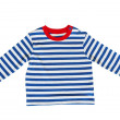 Blue baby striped t-shirt — Stock Photo