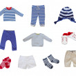 Baby clothes set — Stock Photo