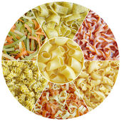 Set different sorts of pasta — 图库照片