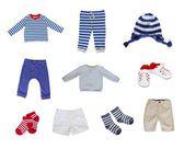 Baby clothes set — Stock Photo