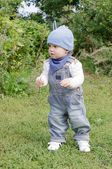 Nice baby months walking in park — Stock Photo