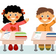 Little children at school — Stock Photo