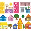 Stock Photo: Collections of different houses