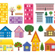 Collections of different houses — Stock Photo #34652661