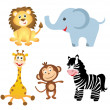 Set of africanimals — Stock Photo #34652947