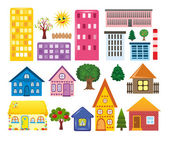 Collections of different houses — Stock Photo
