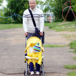 Father and baby son walking — Stock Photo