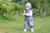 Baby boy outdoors — Stock Photo