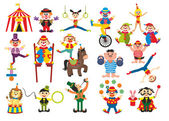 Set of professions in circus — Stock Photo