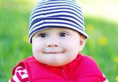 Portrait of baby outdoors — Stock Photo