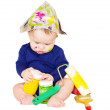 Stock Photo: Baby painter age of 6 months