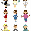 Women of different professions — Stock Photo
