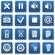 Square pictograms of blue color — Stock Photo