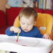 Baby paints — Stock Photo