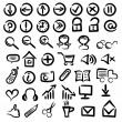 Set of free hand web icons — Stock Photo
